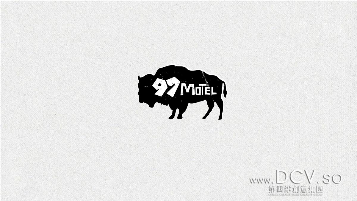 西安97号motel动车驿站民宿酒店平面vi品牌logo设计(商洛柞水牛背梁)